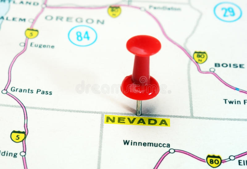 De kaart van Nevada de V.S. royalty-vrije stock foto