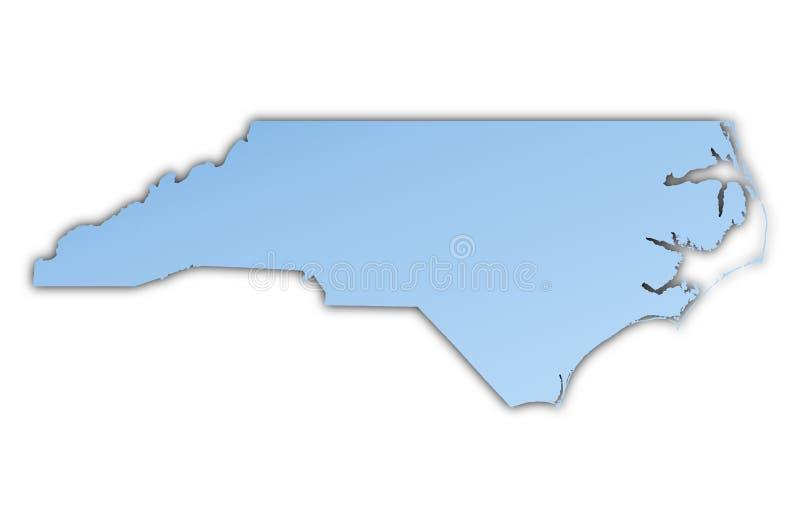 De kaart van Noord-Carolina (de V.S.) royalty-vrije illustratie