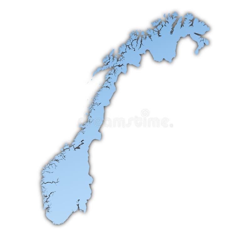 De kaart van Noorwegen