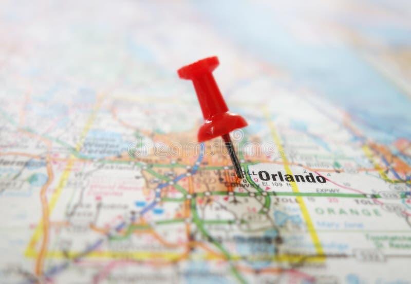 De kaart van Orlando stock fotografie