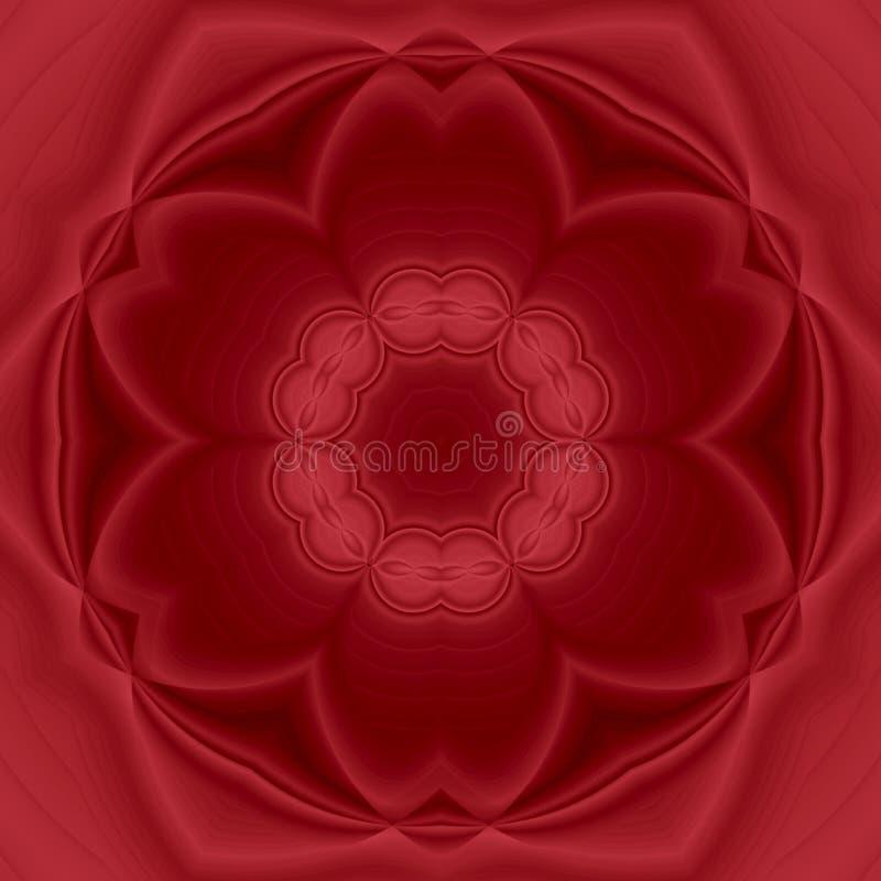 De kaart van de ornamentkleur met mandala Geometrische elegante mandala van het cirkelelement zwart-wit in rode marsala vector illustratie