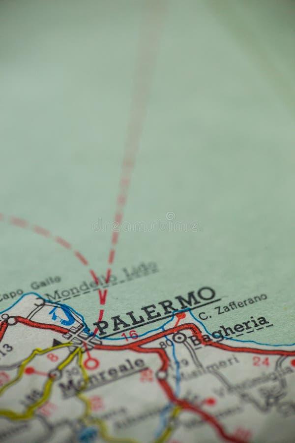 De Kaart van Palermo Italië stock fotografie