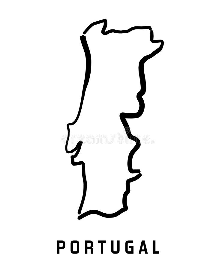 De kaart van Portugal vector illustratie