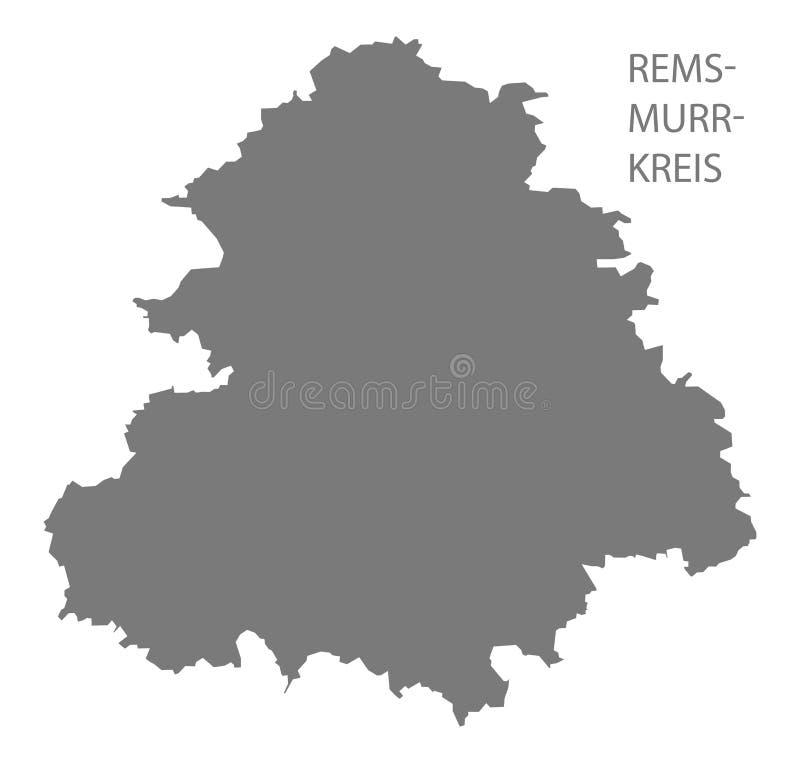 De kaart van de provincie rem-Murr-Kreis van Baden Wuerttemberg Germany stock illustratie