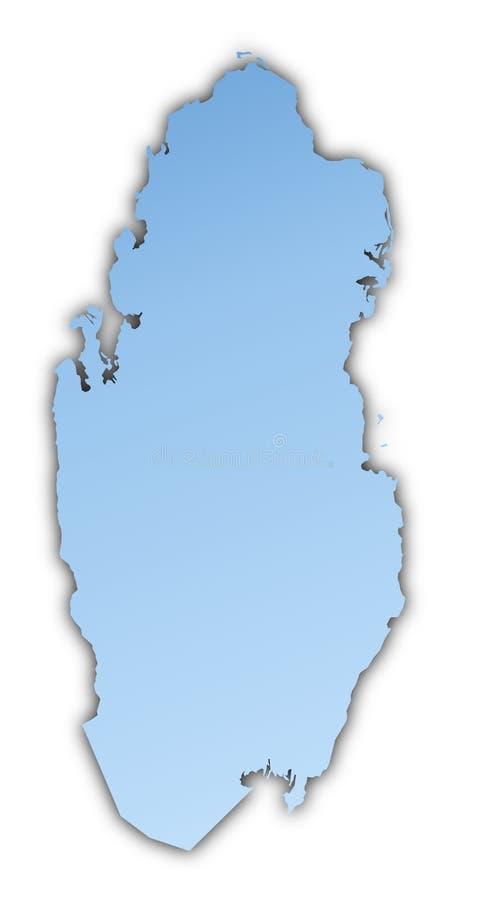 De kaart van Qatar vector illustratie
