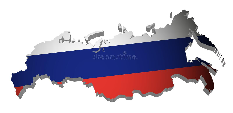 De Kaart van Rusland stock illustratie