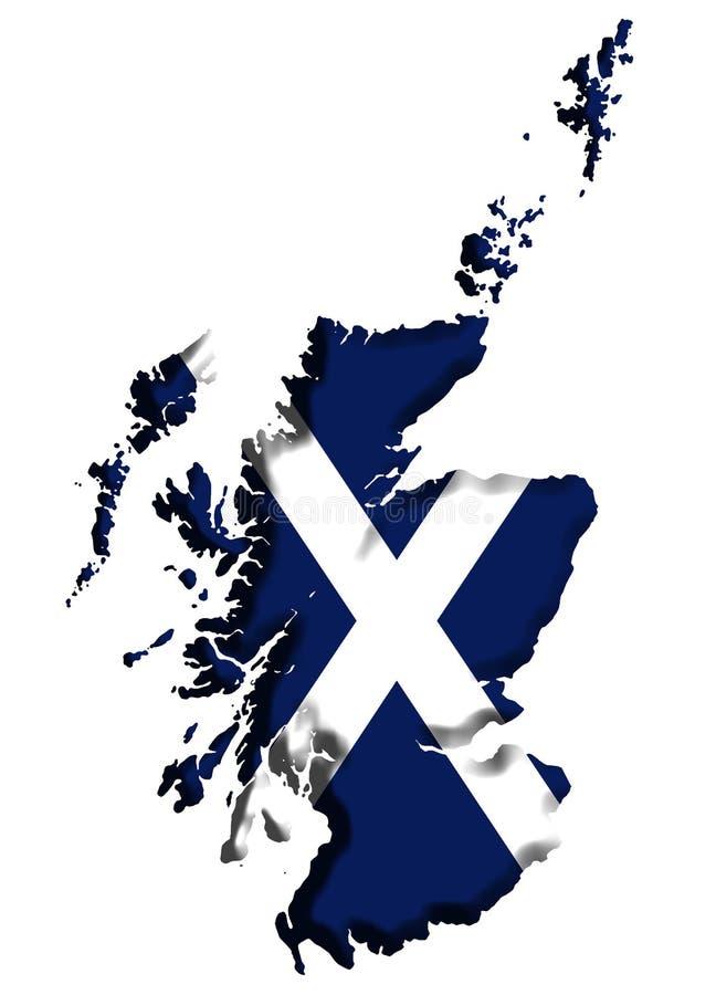 De Kaart van Schotland vector illustratie
