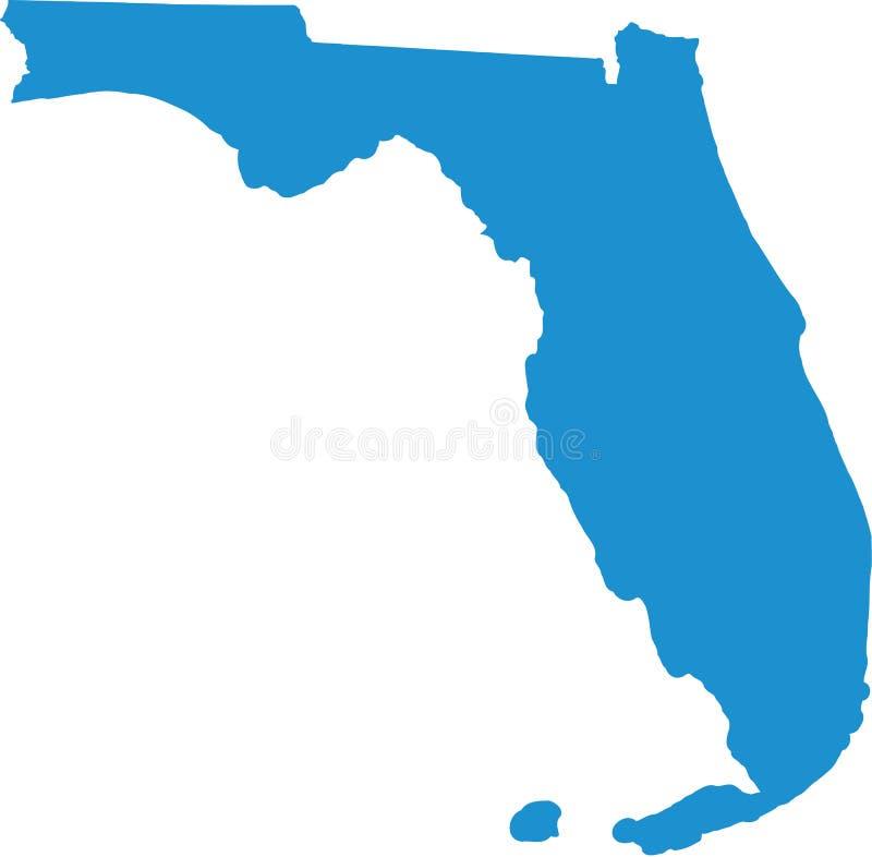 De kaart van de staat van Florida royalty-vrije illustratie