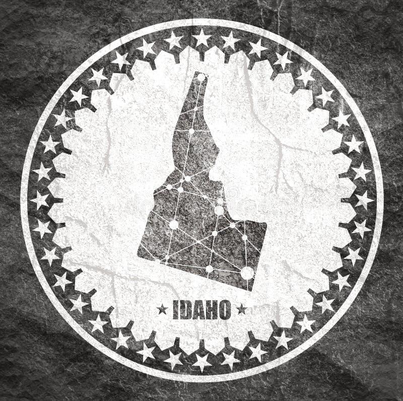 De kaart van de Staat van Idaho door provincies royalty-vrije illustratie