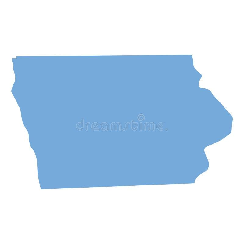 De kaart van de Staat van Iowa door provincies royalty-vrije illustratie