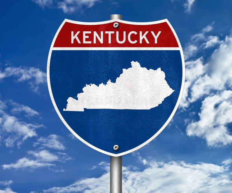De kaart van de staat van Kentucky stock fotografie