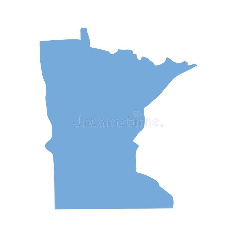 De kaart van de Staat van Minnesota vector illustratie