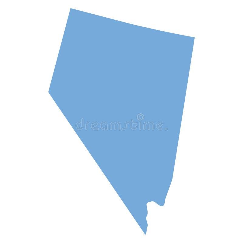De Kaart van de Staat van Nevada royalty-vrije illustratie