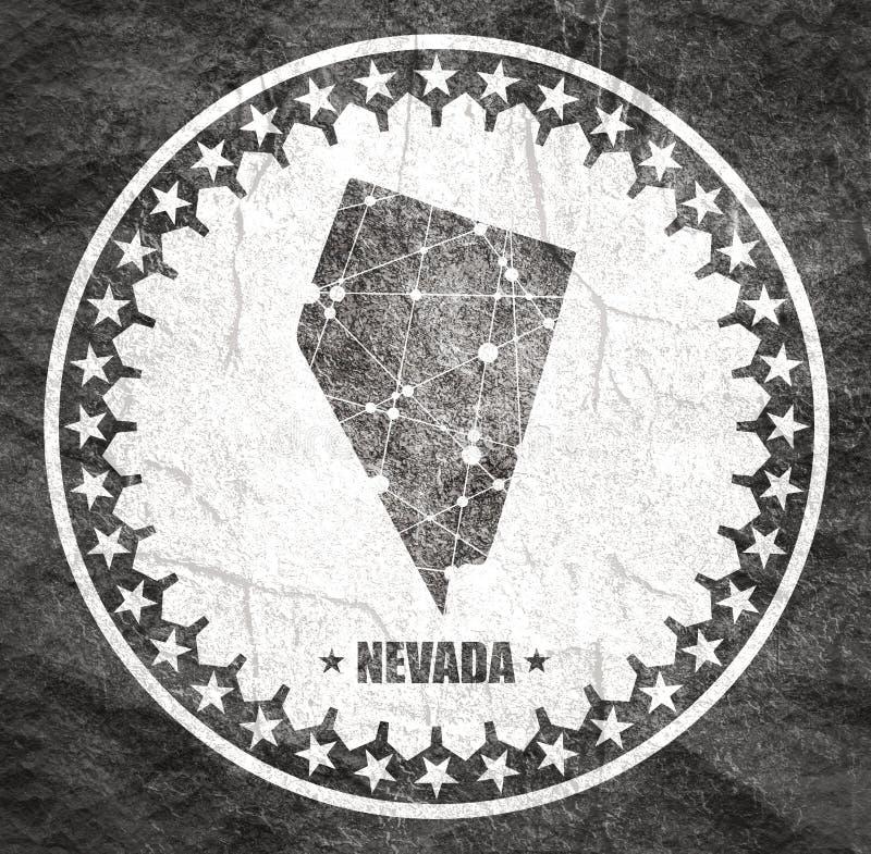 De Kaart van de Staat van Nevada stock illustratie