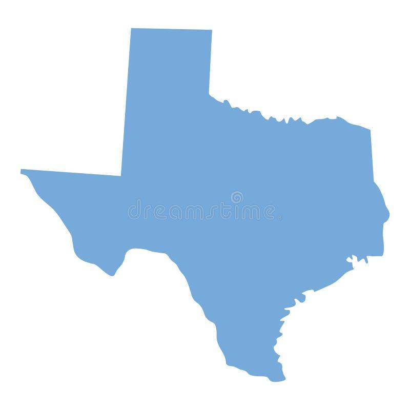 De kaart van de staat van Texas stock illustratie