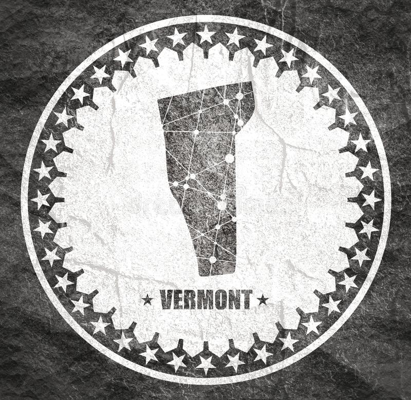 De kaart van de Staat van Vermont stock illustratie