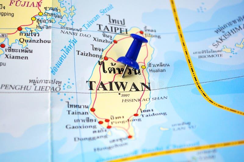 De kaart van Taiwan stock afbeelding