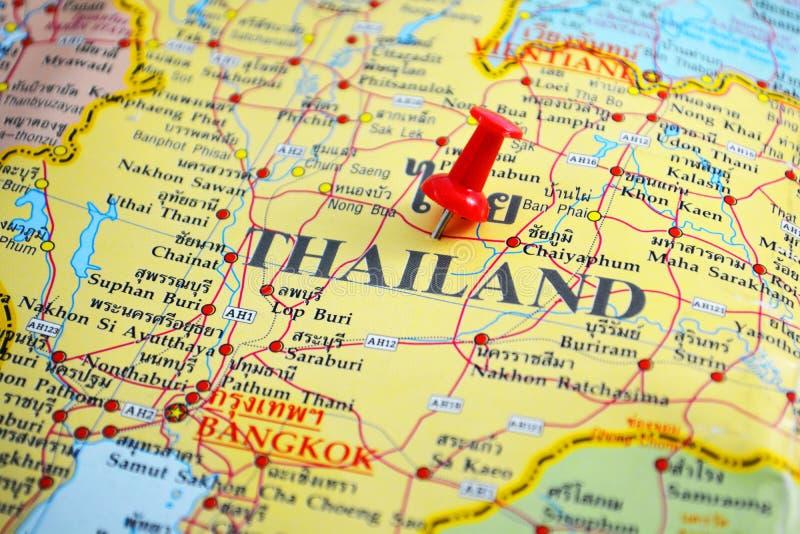 De kaart van Thailand