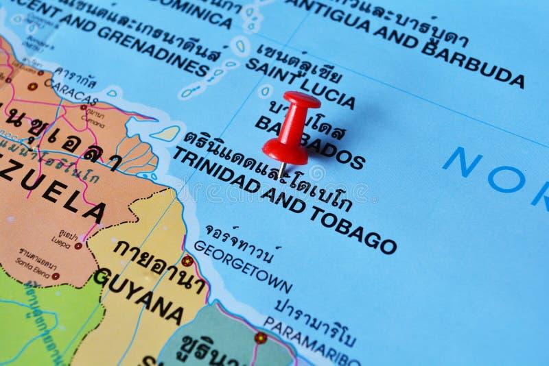 De kaart van Trinidad en van Tobago royalty-vrije stock afbeeldingen