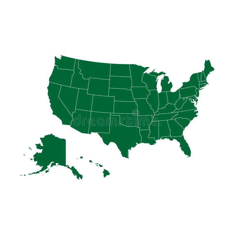 De kaart van de V.S. - Vector royalty-vrije illustratie