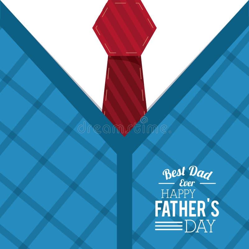 De kaart van de vadersdag, beste papa ooit dag speciale gelukwens vector illustratie