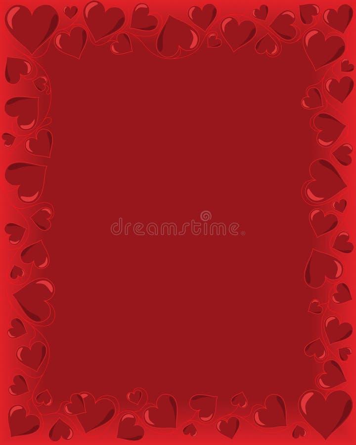 De Kaart van valentijnskaarten royalty-vrije illustratie