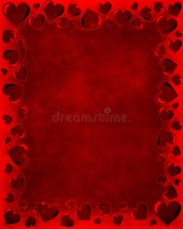 De Kaart van valentijnskaarten vector illustratie