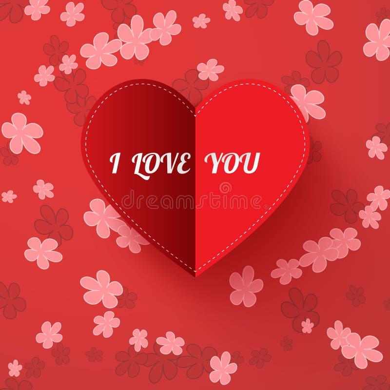 Download De Kaart Van De De Valentijnskaartendag Van Het Witboekhart Met Teken ` I Houdt Van U ` Vector Illustratie - Illustratie bestaande uit samenvatting, emotie: 107703917