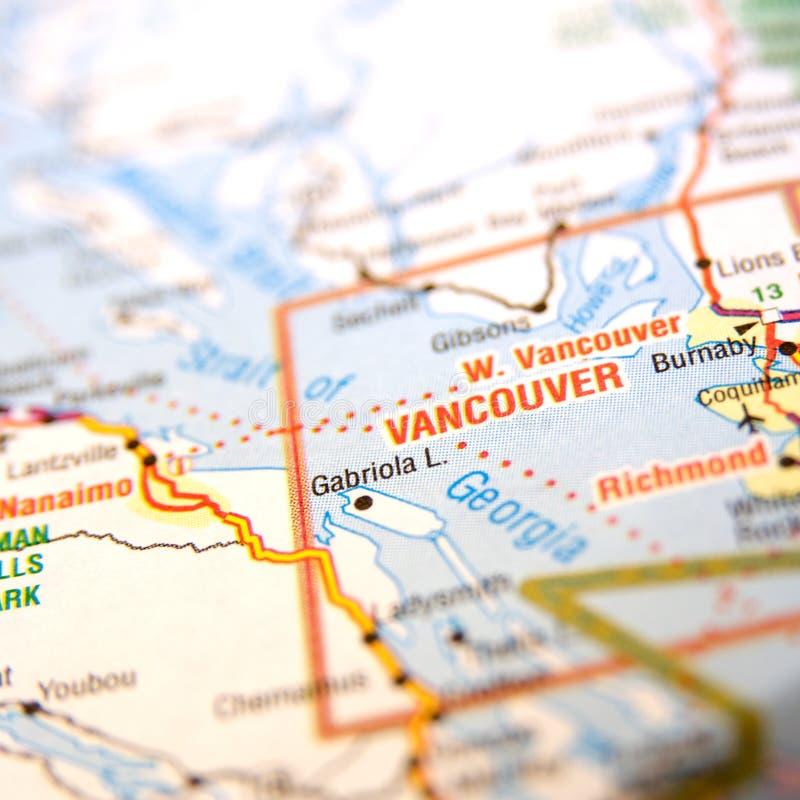 De kaart van Vancouver   stock foto's