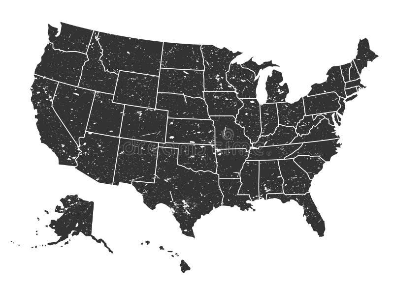 De Kaart van de Verenigde Staten van Amerika Bekijk mijn galerij want meer beelden van dit modelleert Vector vector illustratie