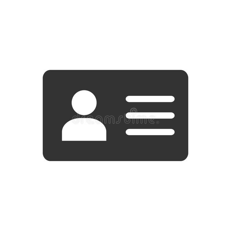 De kaart van de werknemersbediende, vcard vectorpictogramillustratie voor grafisch ontwerp, embleem, website, sociale media, mobi royalty-vrije illustratie