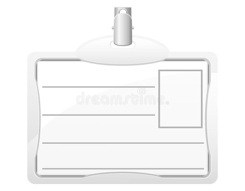 De kaart vectorillustratie van de identificatie vector illustratie