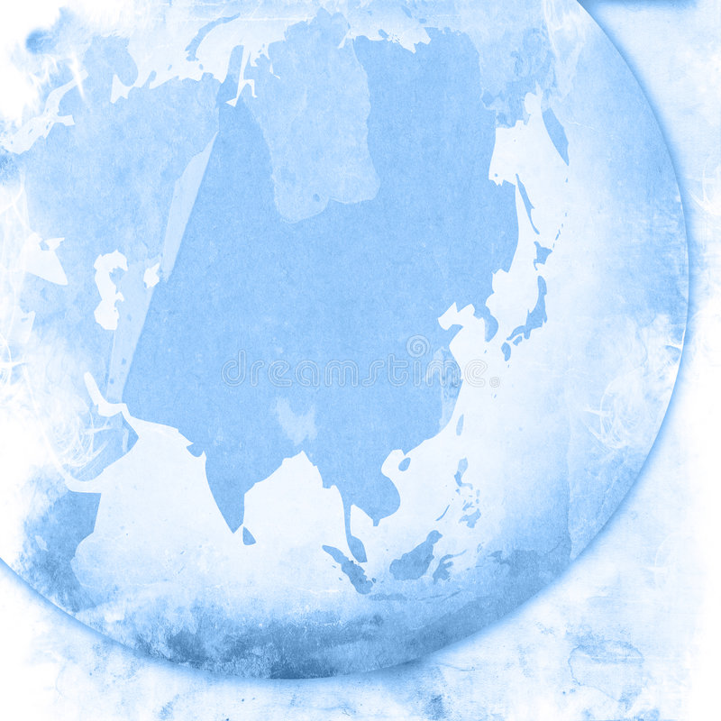 De kaart-wijnoogst van Azië kunstwerk vector illustratie