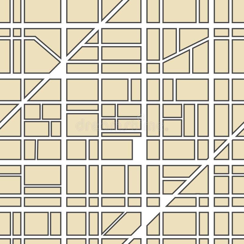 De kaartabstractie van de stad vector illustratie