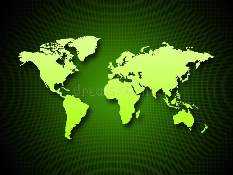 De kaartachtergrond toont Aardrijkskunde van Bol en Landen vector illustratie