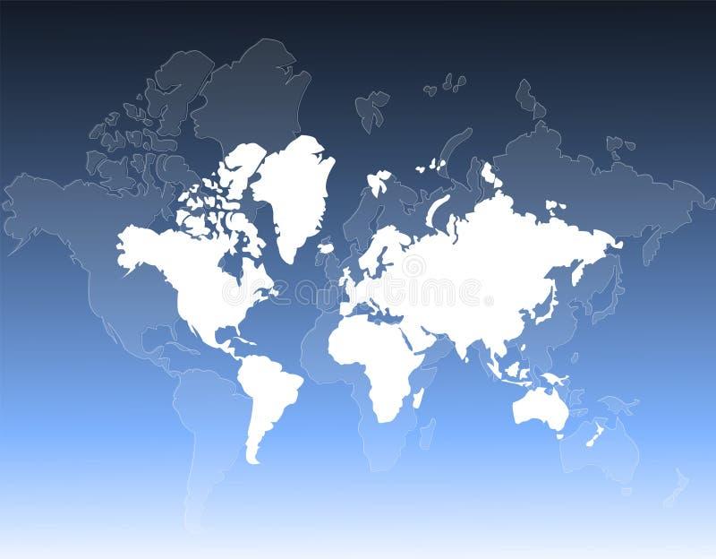 De kaartachtergrond van de wereld vector illustratie