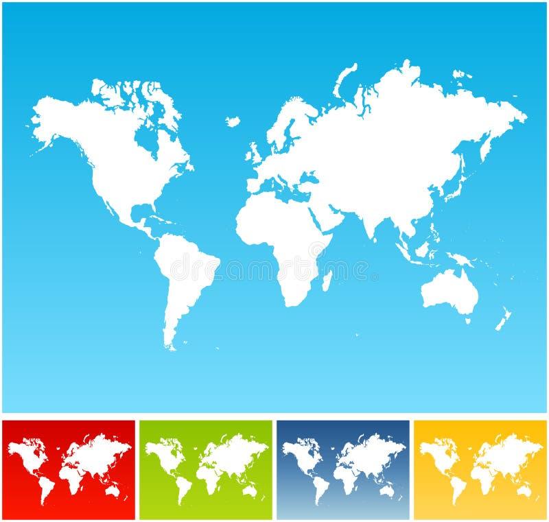 De kaartachtergronden van de wereld stock illustratie