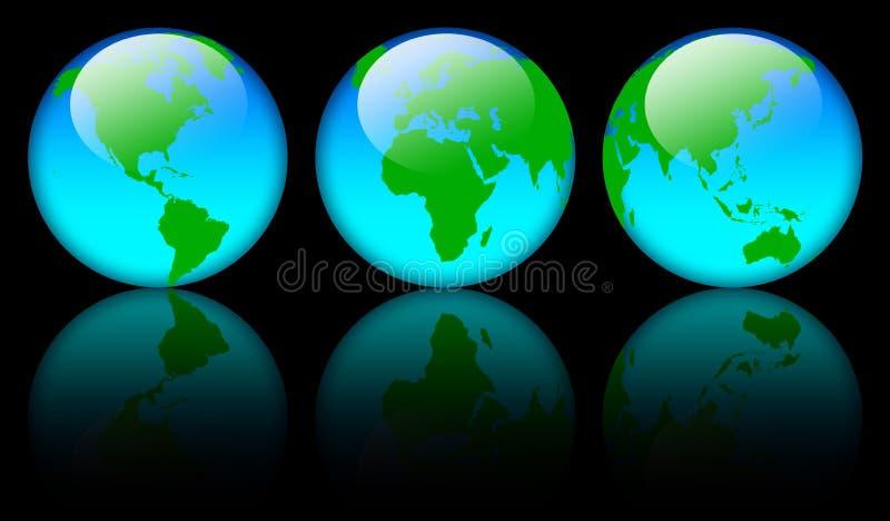 De kaartbollen van de wereld royalty-vrije illustratie