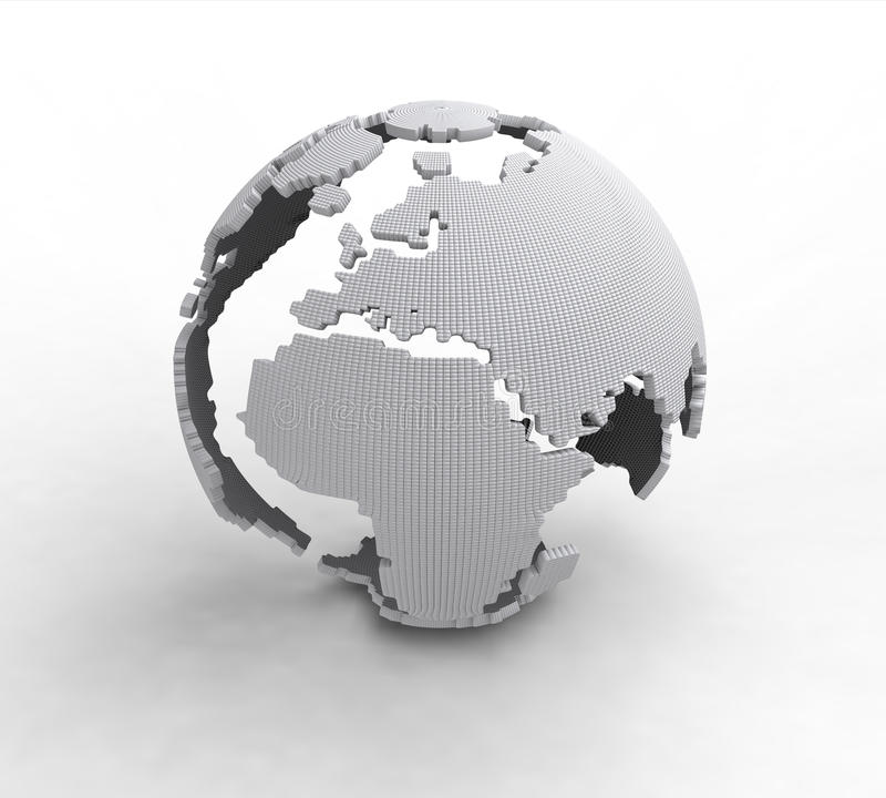 De Kaarten van de Bol van de wereld stock illustratie