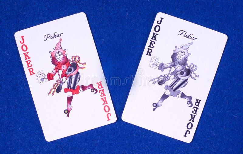 De kaarten van de de pookjoker van het casino royalty-vrije stock foto's