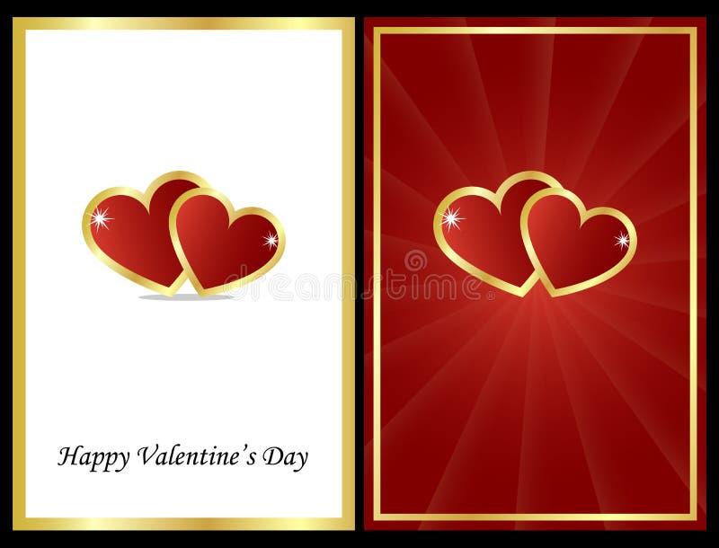 De kaarten van de valentijnskaart royalty-vrije illustratie