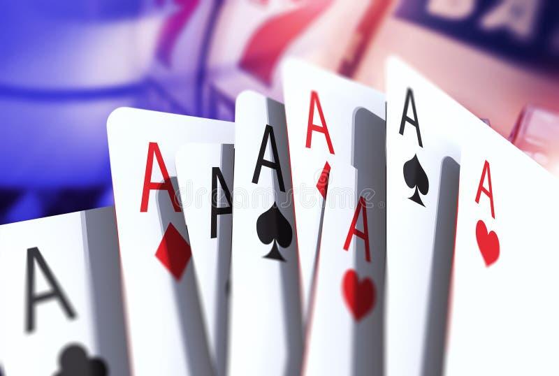 De Kaarten van het blackjackspel royalty-vrije illustratie