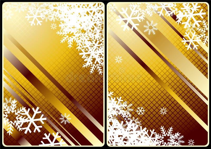De kaarten van Kerstmis royalty-vrije illustratie