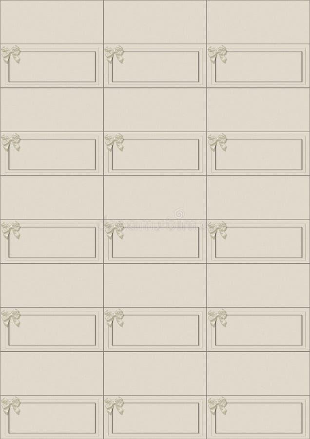 De kaartenblad van de plaats met boog x 15 stukken stock illustratie