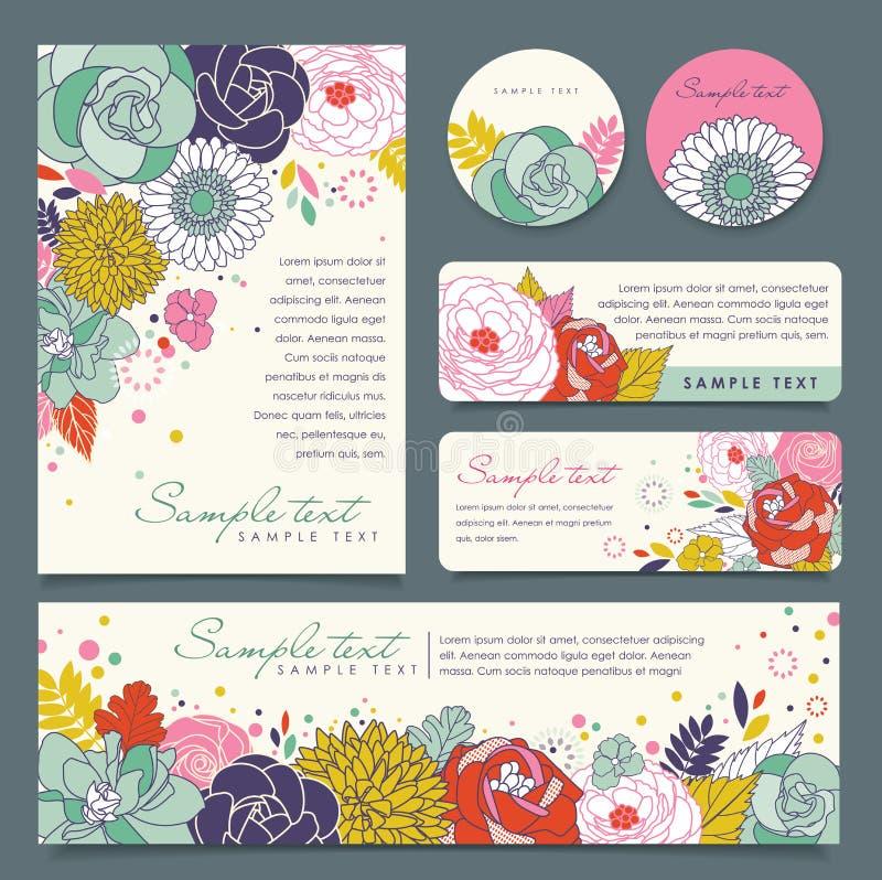 De kaartenmalplaatje van de groet stock illustratie