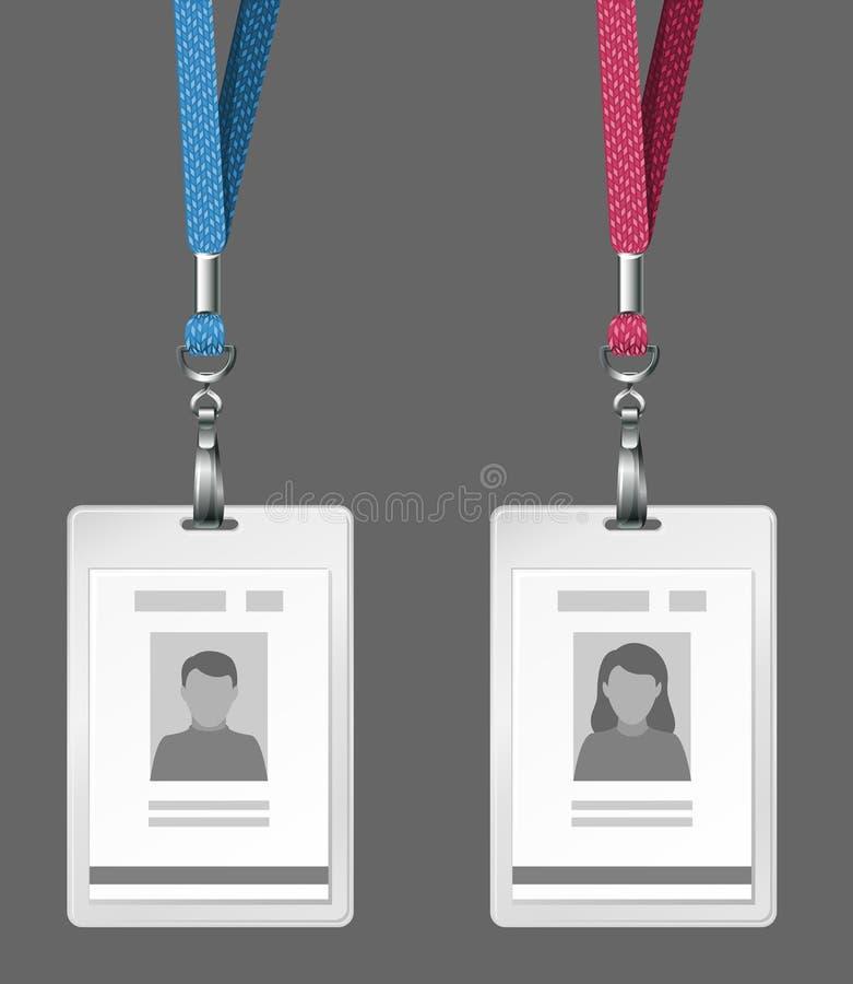 De kaartenmalplaatje van de identificatie stock illustratie
