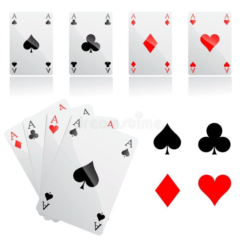 De kaartenvector van het spel vector illustratie