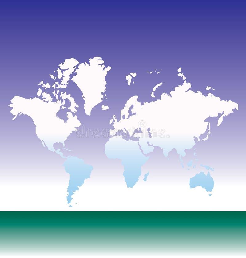 De kaartillustratie van de aarde royalty-vrije illustratie