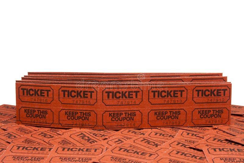 De kaartjes van de loterij royalty-vrije stock afbeeldingen