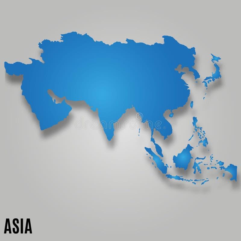 De kaartkaart van Azië royalty-vrije illustratie